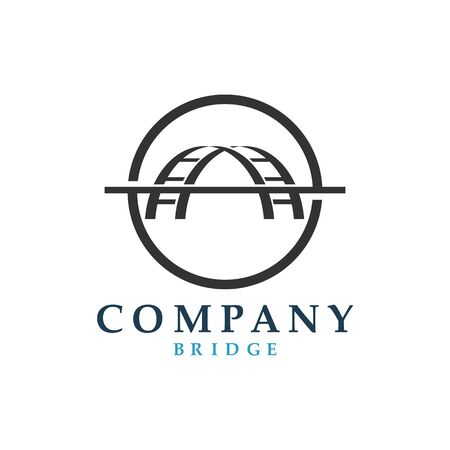Bridge icon vector illustration Logo template design Illusztráció