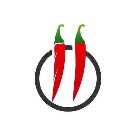 chili-pepper icon. flat illustration of chili-pepper - vector icon. chili-pepper sign symbol