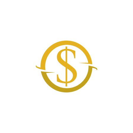 Business acountting dollar icon vector template
