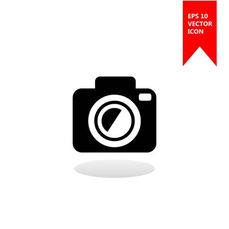 A camera vector icon. The sign of a camera. The symbol of a camera