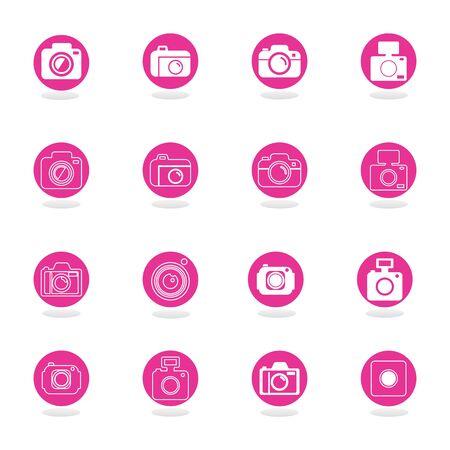 camera vector icon and symbol