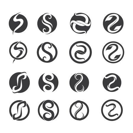 Icone di vettore del modello S logo e simboli Logo