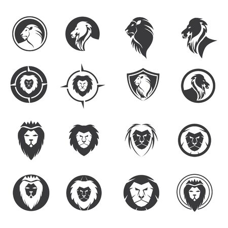 Lion logo vector template Vector