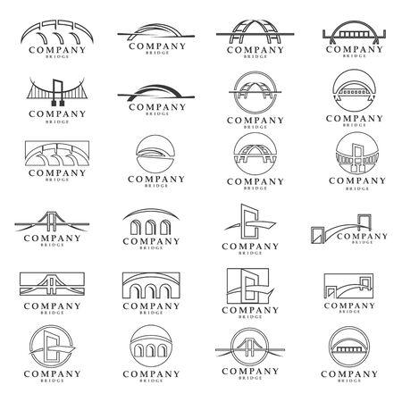 Bridge logo and symbol vector  template
