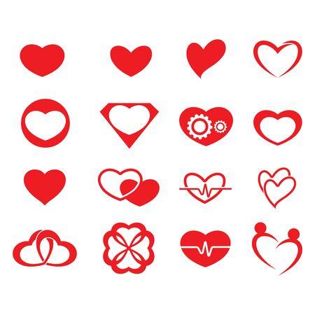 heart icon Logo element illustration