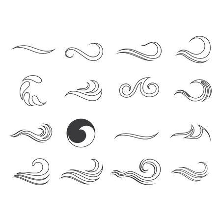 Water Wave Logo Template vector symbol nature Stock Illustratie