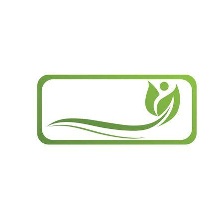 green leaf ecology nature element Banque d'images - 129621981