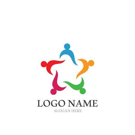Adoption and community care Logo template vector icon