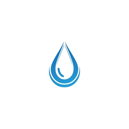 Water drop template illustration - Vector