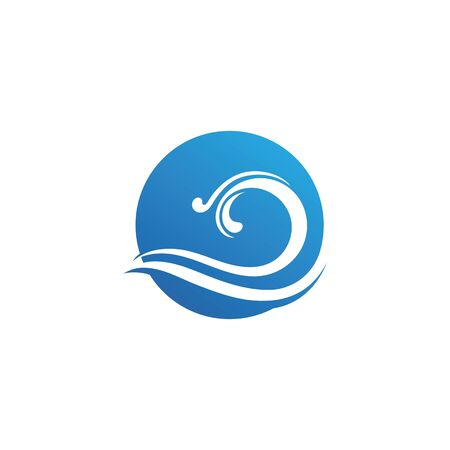 Water Wave symbol and icon Stock Illustratie
