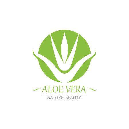 Aloe vera symbol template vector