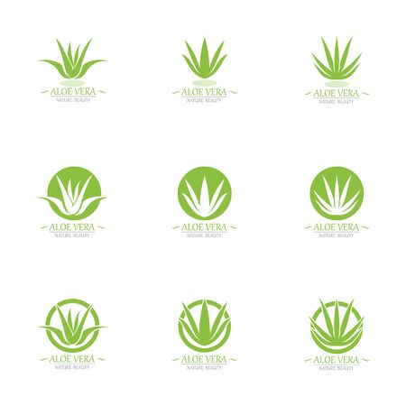 Aloe vera logo and symbol template vector
