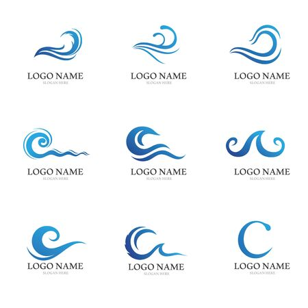 Water wave icon vector illustration design logo Ilustração
