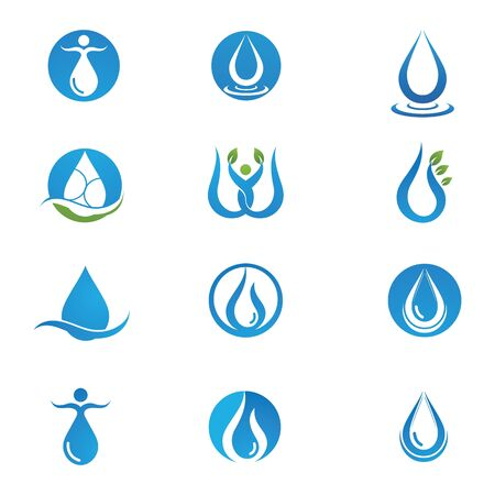 Water drop Template vector illustration design