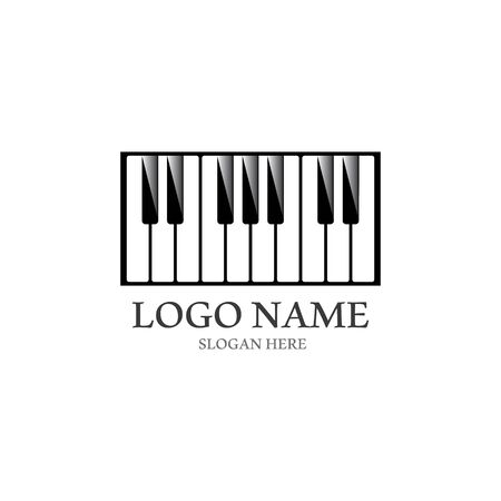 Piano icon vector ilustration template Stockfoto - 130418209