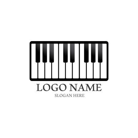 Piano icon vector ilustration template Stockfoto - 130418207