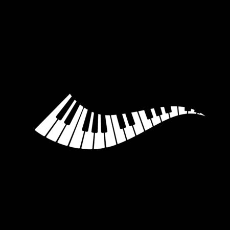Piano icon vector ilustration template Stockfoto - 130418213