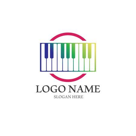 Piano icon vector ilustration template Stockfoto - 130418218
