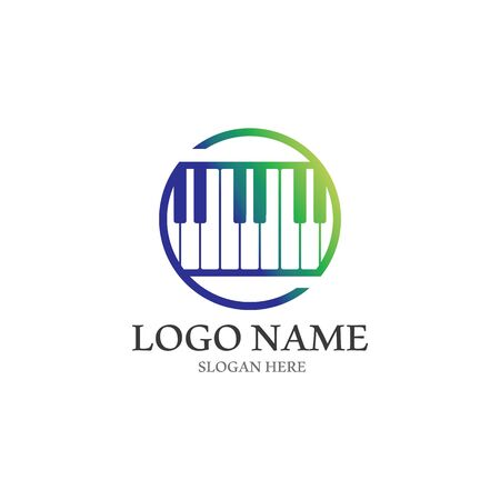 Piano icon vector ilustration template
