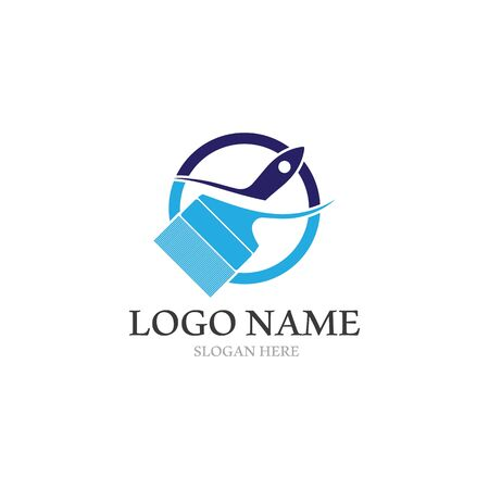 Paint Logo Template vector icon illustration design