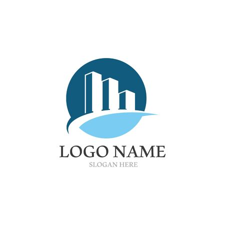 Real Estate , Property and Construction Logo design 일러스트