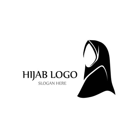 hijab logo and symbol vector