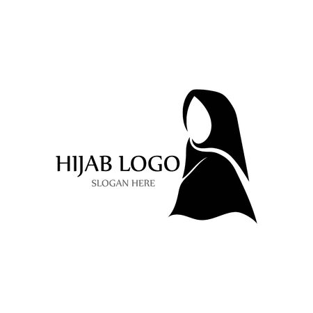 hijab logo and symbol vector