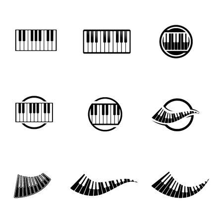 Piano icon vector ilustration template