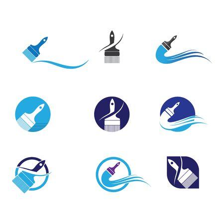 Paint Logo Template vector icon illustration design