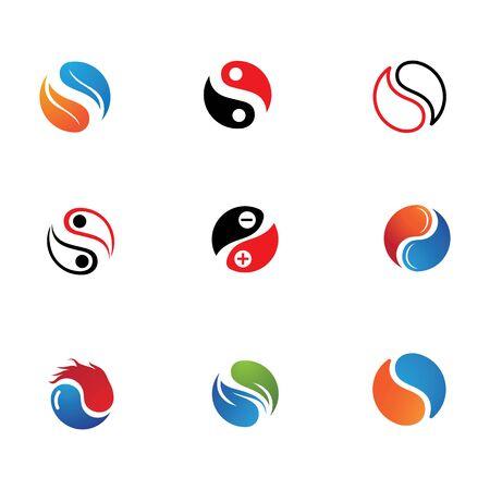 Yin yang logo and symbol  icon vector template Stockfoto - 130658035