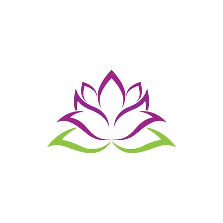 Beauty Vector lotus flowers design logo Template icon Stock Illustratie