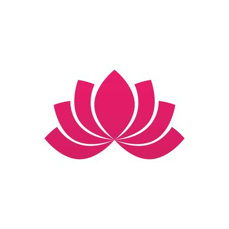 Beauty Vector lotus flowers design logo Template icon  イラスト・ベクター素材