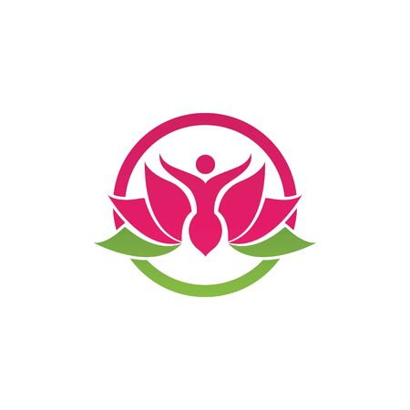 Beauty Vector lotus flowers design logo Template icon Stockfoto - 131442466