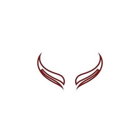 Devil horn Vector icon design illustration logo Template