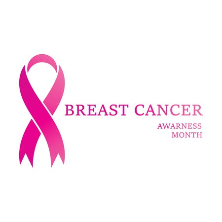 Breast cancer awareness ribbon postCard or brochure