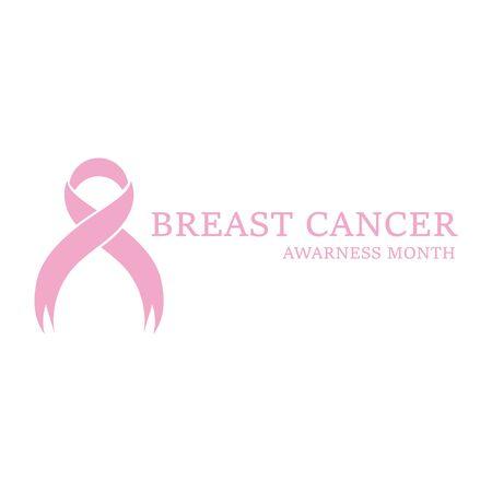 Breast cancer awareness ribbon postCard or brochure