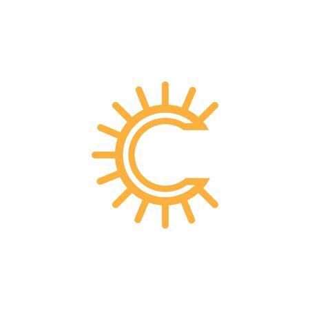 Sun Vector illustration Icon Logo Template design  イラスト・ベクター素材