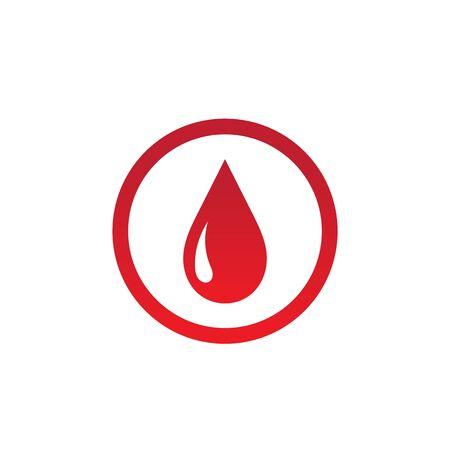 Blood drop donor vector illustration