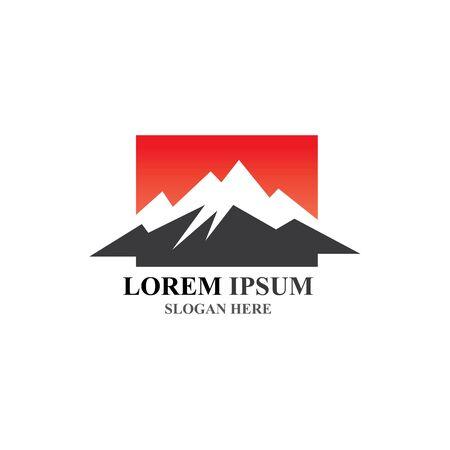 Mountain icon Logo Template Vector illustration design Stockfoto - 131835375