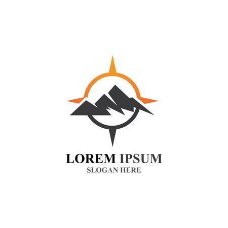 Mountain icon Logo Template Vector illustration design Stockfoto - 131835390