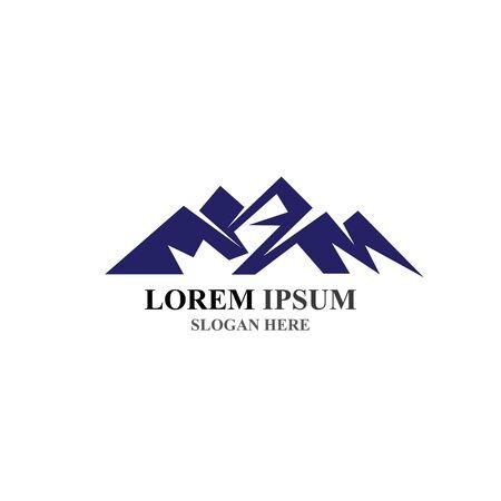 Mountain icon Logo Template Vector illustration design Stock Illustratie
