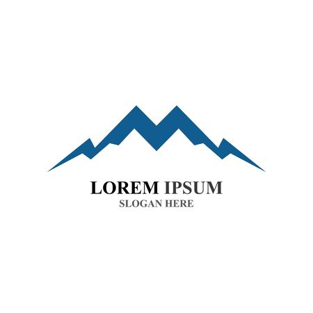 Mountain icon Logo Template Vector illustration design Stockfoto - 131835494