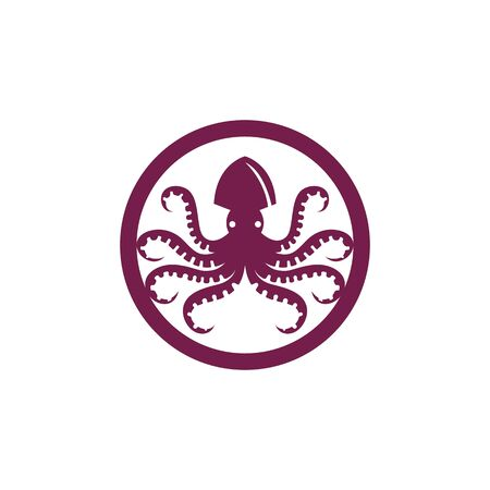 octopus vector icon illustration design template 矢量图像