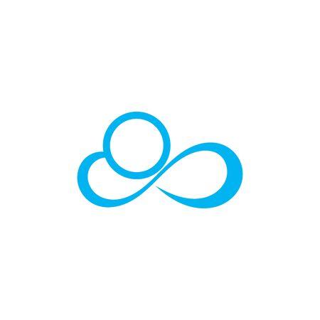 Cloud logo vector icon illustration design