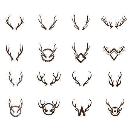 Diseño del ejemplo del icono del vector de la plantilla del logotipo de los ciervos Logos