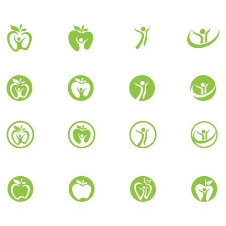 Apple vector illustration design icon logo template
