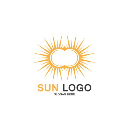 Sun Vector illustration Icon Logo Template design Иллюстрация