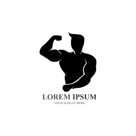 Vector object and Icons for Sport Label  Gym Badge  Fitness Logo Design Illustration