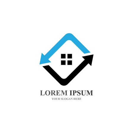 Real Estate , Property and Construction Logo design Stock Illustratie