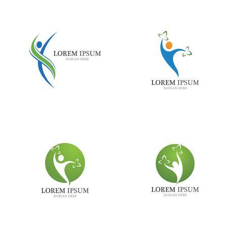 Menschliche Gesundheit Charakter Logo Zeichen Illustration Vektor Design